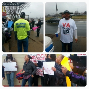 Aside from Fast Food Workers and their families, members of other unions came out to show solidarity.